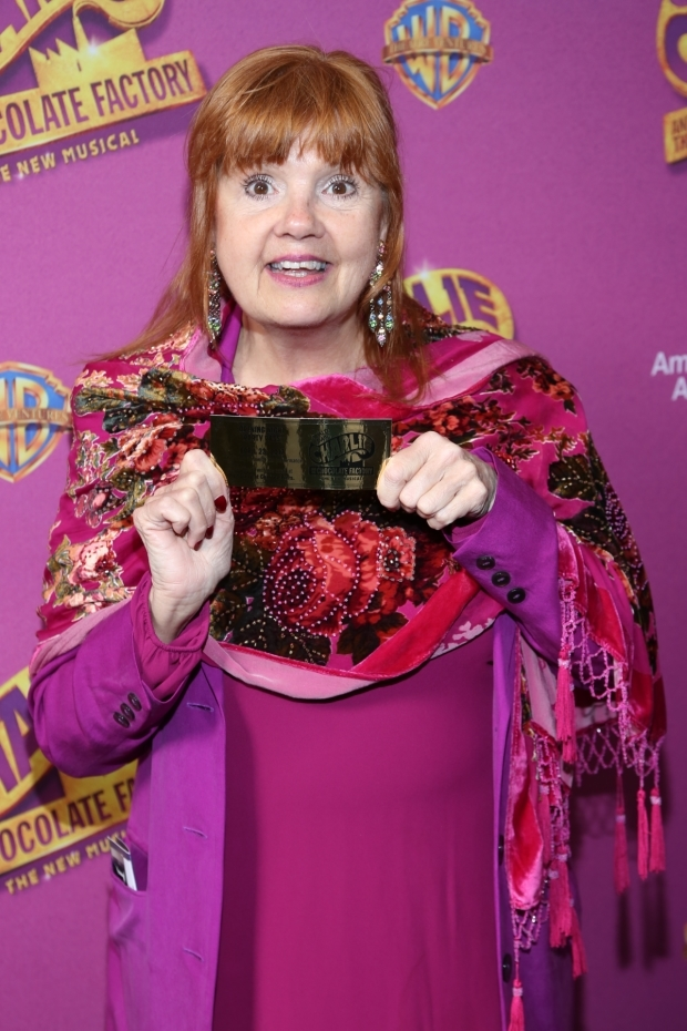 <p>Annie Golden shows off her &quot&#x3B;golden&quot&#x3B; ticket.</p><br />(© Tricia Baron)