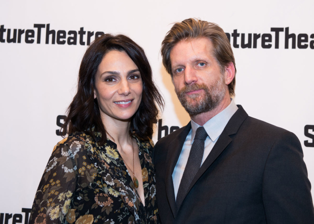 <p>Annie Parisse was there to support her husband, Paul Sparks.</p><br />(© Allison Stock)