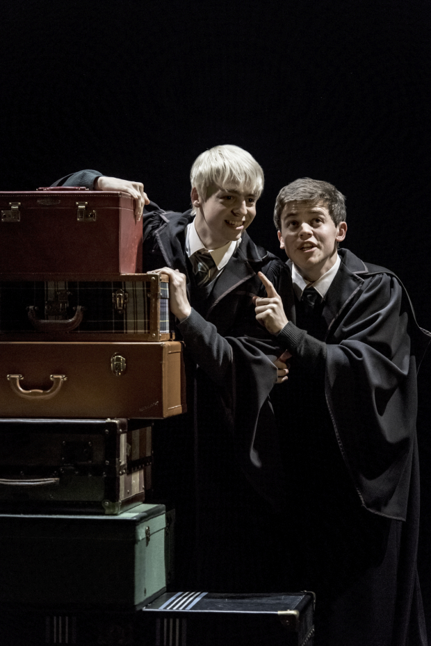 <p>Anthony Boyle and Sam Clemmett share a scene as Scorpius Malfoy and Albus Potter.</p><br />(© Manuel Harlan)