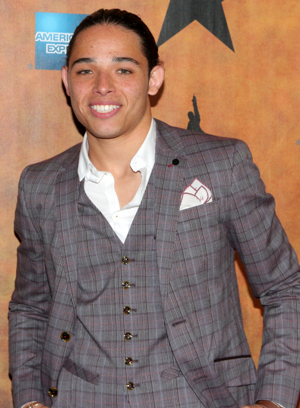 <p>Anthony Ramos makes the audience cry twice, first as John Laurens and then as Philip Hamilton.</p><br />(© David Gordon)