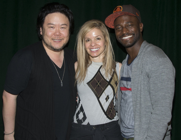 <p>Arima and Diggs flank the show&#39&#x3B;s producer, Bellanca Smigel Rutter.</p><br />(© Monica Simoes)