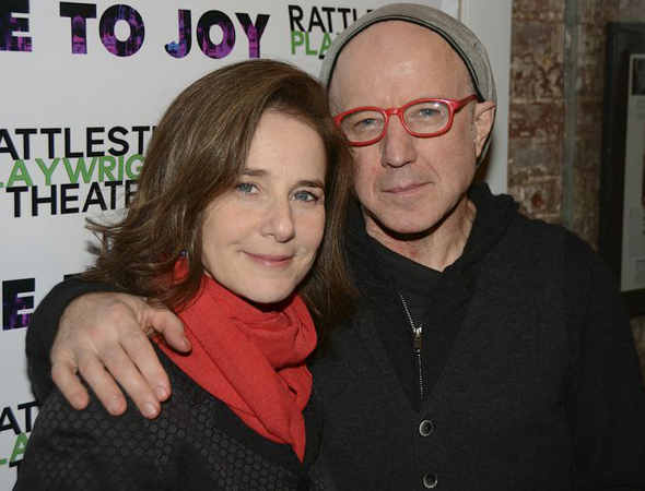 <p>Arliss Howard is joined by his wife, actress Debra Winger, for the evening.</p><br />(© Nessie Nankivell)