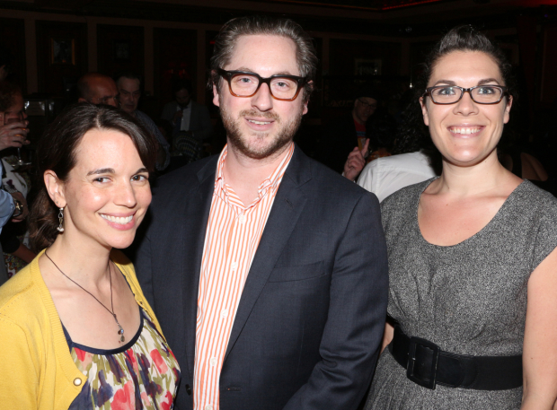 <p>Ars Nova head honchos Emily Shooltz (associate artistic director), Jason Eagan (artistic director), and Renee Blinkwolt (managing director) are honored with a special citation for their development of new theatrical work.</p><br />(© David Gordon)