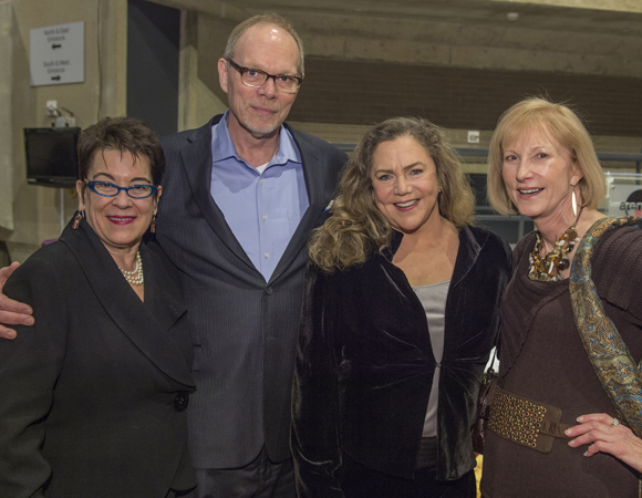 <p>Artistic Director Molly Smith, Executive Producer Edgar Dobie, Kathleen Turner, and Lola Reinsch pose together. </p><br />(© Cameron Whitman Photography)