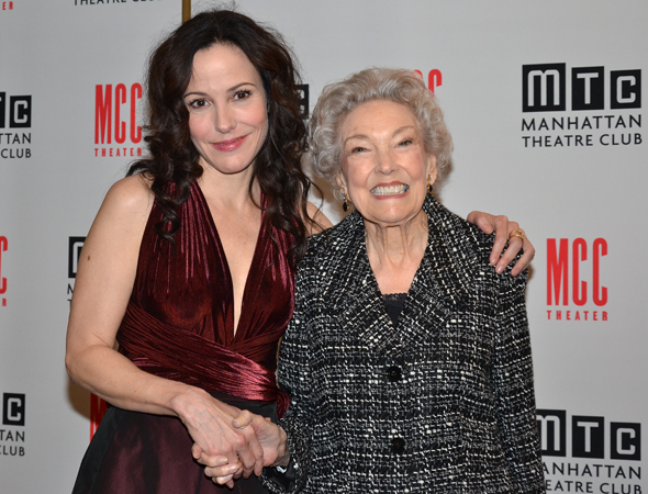 <p>As her date for the evening, star Mary-Louise Parker brought her beaming 90-year-old mother, Caroline.</p><br />(© David Gordon)