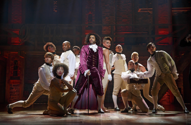 <p>Daveed Diggs strikes a pose as Thomas Jefferson.</p><br />(© Joan Marcus)