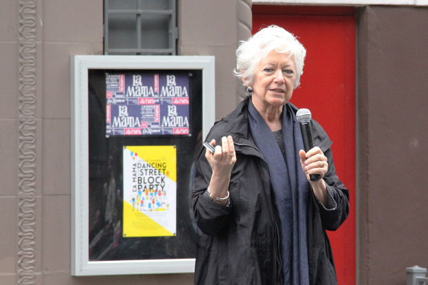 <p>Assistant Commissioner of NYC Department of Cultural Affairs Kathleen Hughes made remarks.</p><br />(© Carolina Restrepo)