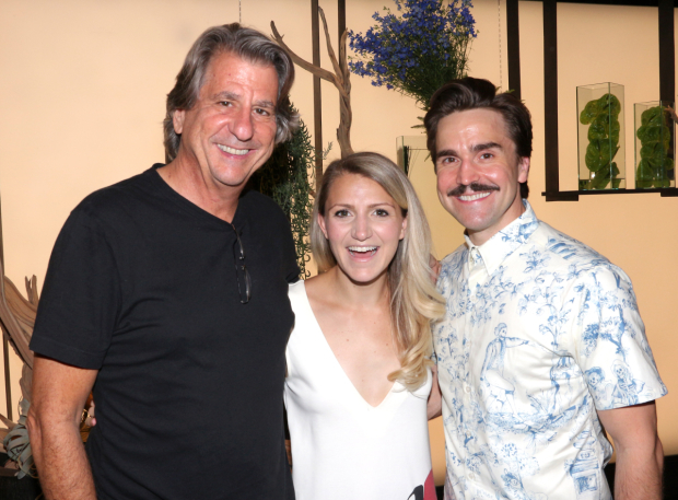 <p>At Ovando, <em>A Midsummer Night&#39&#x3B;s Dream</em> scenic designer David Rockwell hosts a party for the cast, including married couple Annaleigh Ashford (Helena) and Joe Tapper (Robin Starveling).</p><br />(© David Gordon)