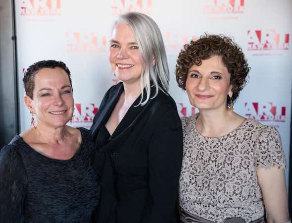 <p>At the A.R.T./New York gala, lobbyist Claudia Wagner (left) and Tony-winning costume designer Susan Hilferty (center) were honored for their contributions to theater. They are seen here with A.R.T. Executive Director Virginia P. Louloudes.</p><br />(© Ashly Covington/Covington Portraits)