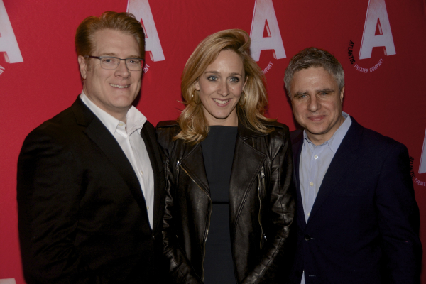 <p>Atlantic Managing Director Jeffory Lawson with Donmar Warehouse Executive Producer Kate Pekenham and Atlantic Artistic Director Neil Pepe.</p><br />(© Nessie Nankivell)