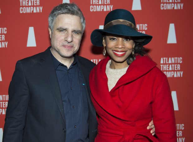 <p>Atlantic Theater Company Artistic Director Neil Pepe poses alongside Tony winner Anika Noni Rose.</p><br />(© Allison Stock)