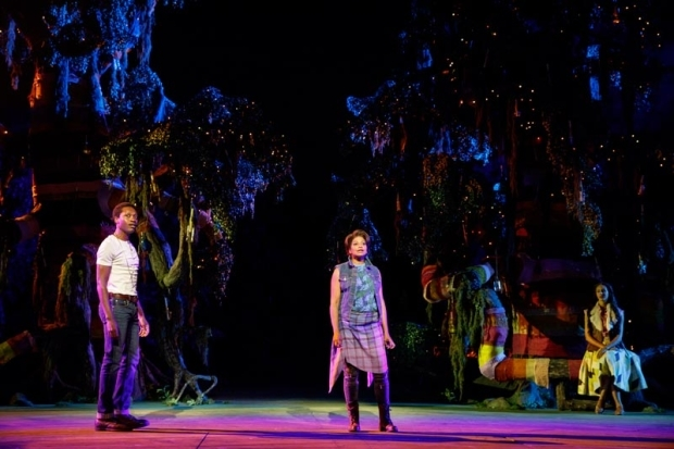 <p>Ato Blankson-Wood stars as Orlando opposite Rebecca Naomi Jones as Rosalind.</p><br />(© Joan Marcus)