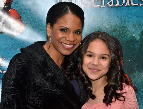 <p>Audra McDonald and her daughter, Zoe, arrive to cheer on McDonald&#39&#x3B;s hubby, Will Swenson. </p><br />(© David Gordon)