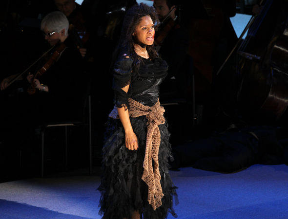 <p>Audra McDonald leads the final &quot&#x3B;Ballad of Sweeney Todd.&quot&#x3B;</p><br />(© David Gordon)