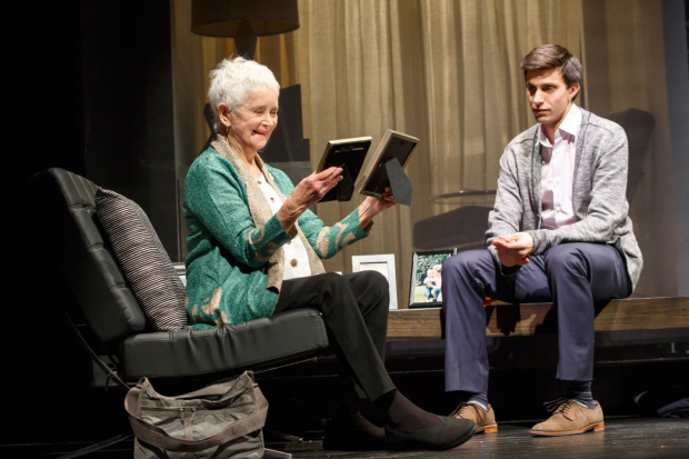 <p>Barbara Barrie as Helen in a scene with Gideon Glick as Jordan.</p><br />(© Joan Marcus)