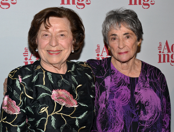 <p>Barbara Fleishman, honored with the Warburg Humanitarian Award, poses with Acting Company producer Margot Harley.</p><br />(© David Gordon)