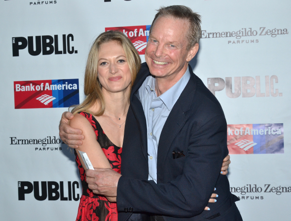 <p>Before the show, Marin Ireland palled around with Bill Irwin.</p><br />(© David Gordon)