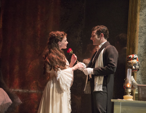 <p>Ben Jacoby plays Raoul opposite Udine as Christine.</p><br />(© Matthew Murphy)