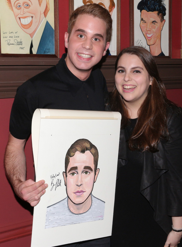 <p>Ben Platt takes a photo with his Broadway bestie, <em>Hello, Dolly!</em> cast member Beanie Feldstein.</p><br />(&copy&#x3B; David Gordon)