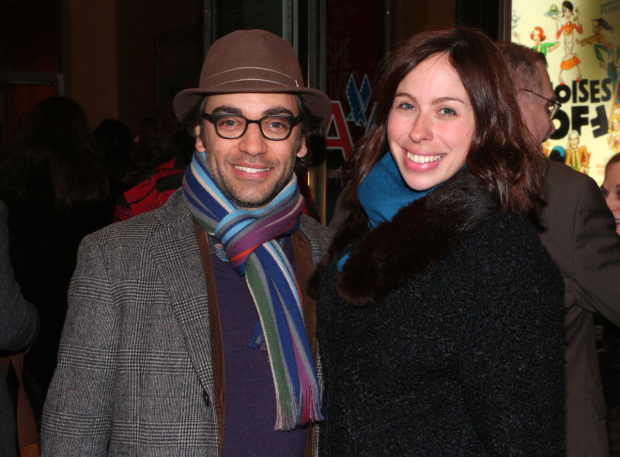 <p>Ben Steinfeld and Emily Young starred in Roundabout&#39&#x3B;s 2015 mounting of Fiasco Theater&#39&#x3B;s <em>Into the Woods</em>.</p><br />(© David Gordon)