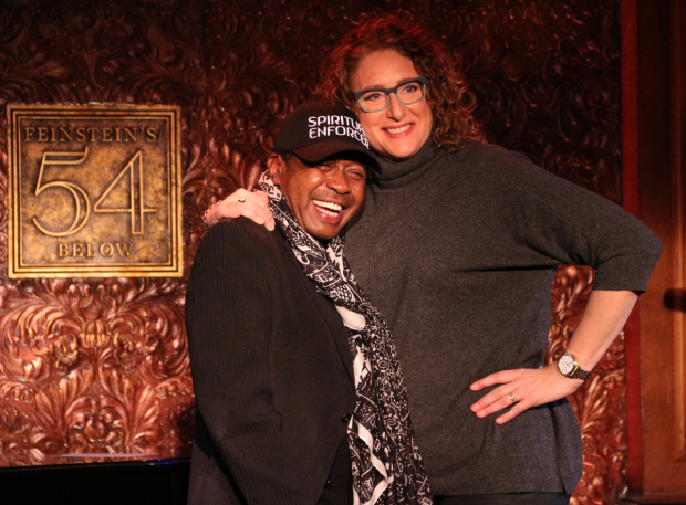 <p>Ben Vereen gets a hug from Judy Gold, who will bring her own concert to the venue on March 11, 12, and 18.</p><br />(© David Gordon)
