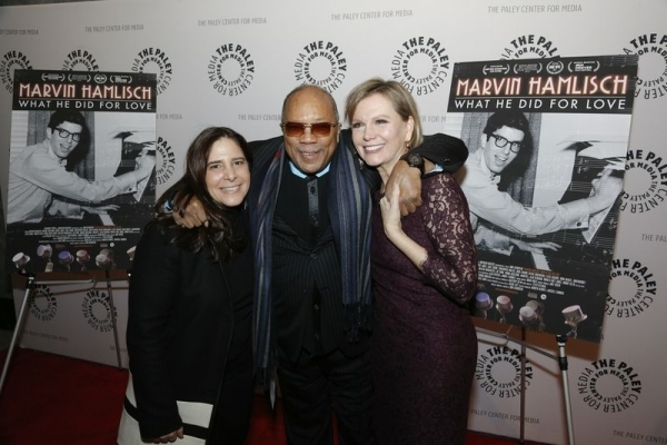 <p>Berinstein (left) poses with music icon Quincy Jones and Terre Blair Hamlisch, Marvin&#39&#x3B;s wife of 23 years. </p><br />(© Heidi Gutman)