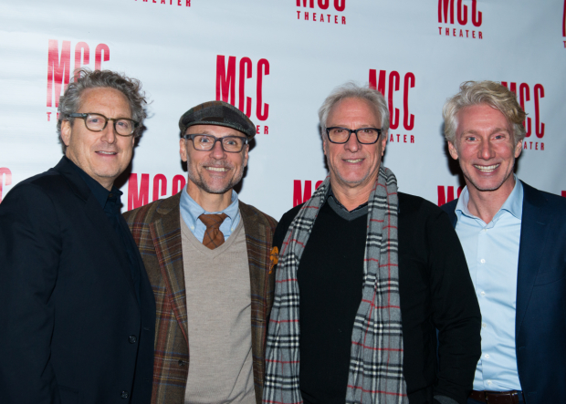 <p>Bernard Telsey (MCC artistic director), William Cantler (MCC artistic director), Robert LuPone (MCC artistic director), and Blake West (executive director) gather for a photo.</p><br />(© Allison Stock)