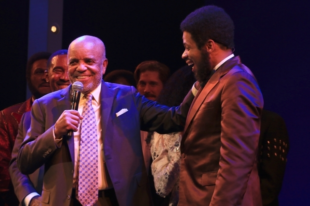 <p>Berry Gordy with Chester Gregory, his onstage counterpart. </p><br />(© Tricia Baron)
