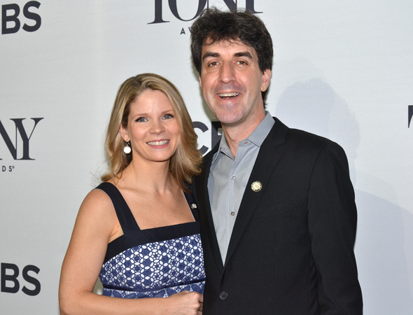 <p>Best Actress in a Musical nominee Kelli O&#39&#x3B;Hara poses with her <em>Bridges of Madison County</em> songwriter, Jason Robert Brown, a Tony nominee for his score and orchestrations.</p><br />(© David Gordon)