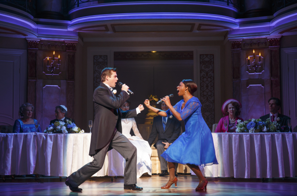 <p>Best man Greg (Nick Spangler) and maid of honor Annie (Montego Glover) share a powerful duet. </p><br />(© Joan Marcus)