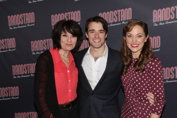 <p>Beth Leavel, Corey Cott, and Laura Osnes head the company.</p><br />(© David Gordon)