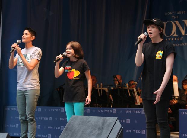 <p>Beth Malone, Gabriella Pizzolo, and Emily Skeggs present a number from <em>Fun Home</em>.</p><br />(© David Gordon)