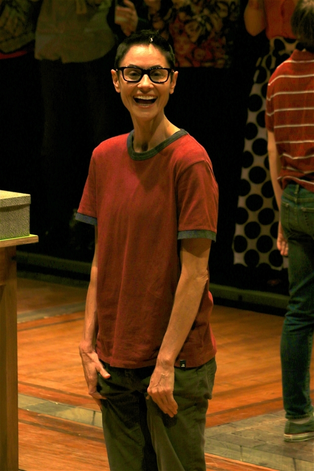 <p>Beth Malone takes the final curtain call of her run in <em>Fun Home</em>.</p><br />(© Tricia Baron)