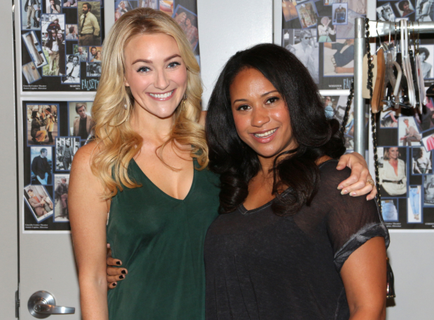 <p>Betsy Wolfe and Tracie Thoms complete the company as Cordelia and Dr. Charlotte.</p><br />(© David Gordon)