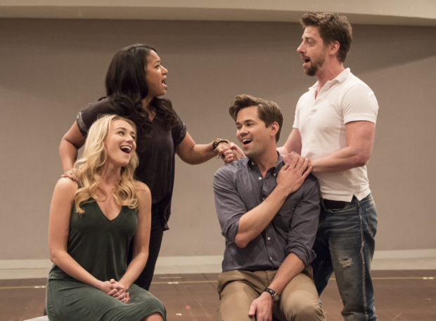 <p>Betsy Wolfe and Tracie Thoms join Andrew Rannells and Christian Borle for &quot&#x3B;Unlikely Lovers.&quot&#x3B;</p><br />(© David Gordon)