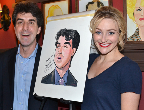 <p>Betsy Wolfe, who starred last year in Brown&#39&#x3B;s musical <em>The Last Five Years</em>, gets her turn posing with the maestro and his portrait.</p><br />(© David Gordon)