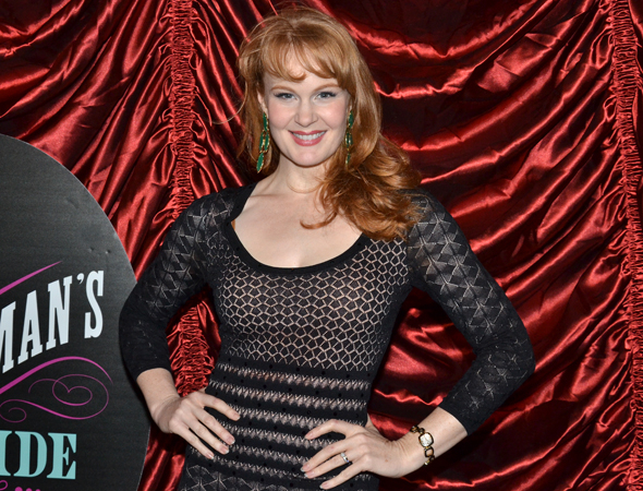 <p><em>Big Fish</em> star Kate Baldwin arrived straight from her matinee.</p><br />(© David Gordon)