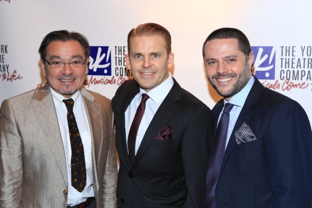 <p>Bill Castellino, Robert Creighton, and Joshua Bergasse collaborated on the York&#39&#x3B;s off-Broadway production of <em>Cagney</em>.</p><br />(© Tricia Baron)