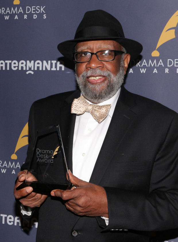 <p>Bill Sims Jr., Outstanding Music in a Play recipient for <em>Jitney</em>.</p><br />(© David Gordon)