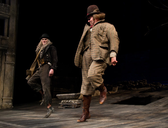 <p>Billy Crudup and Shuler Hensley join in the jig.</p><br />(© David Gordon)
