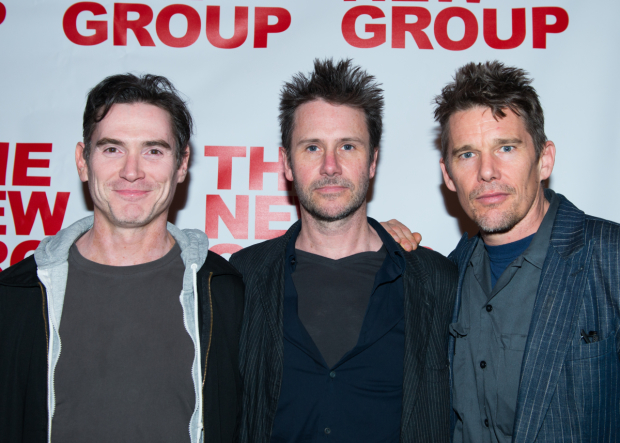 <p>Billy Crudup, Josh Hamilton, and Ethan Hawke all came out to support on opening night.</p><br />(© Allison Stock)