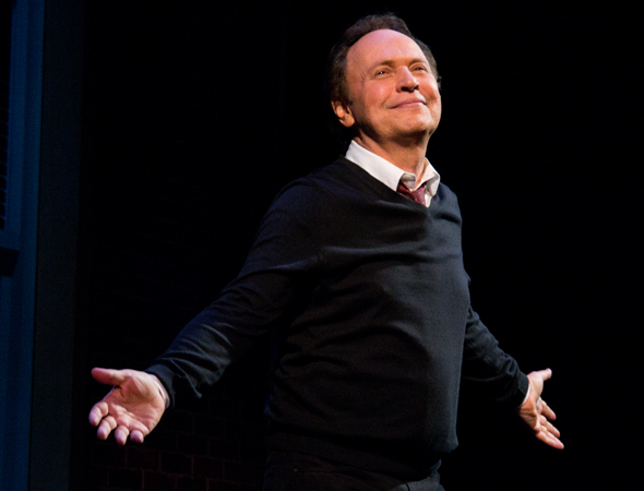 <p>Billy Crystal drinks in the applause as he takes his curtain call.</p><br />(© David Gordon)