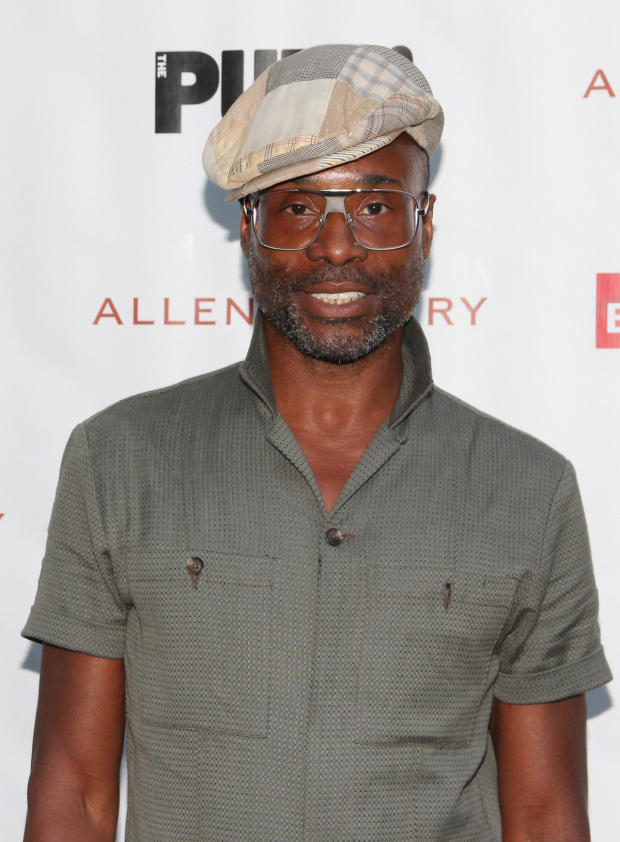 <p>Billy Porter arrived ready for a night in the park.</p><br />(© David Gordon)