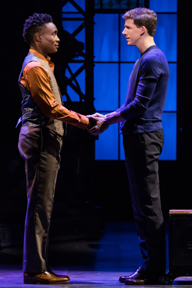 <p>Billy Porter and Stark Sands play Lola and Charlie Price.</p><br />(© Matthew Murphy)