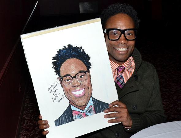 <p>Billy Porter smiles broadly alongside his caricature.</p><br />(© David Gordon)