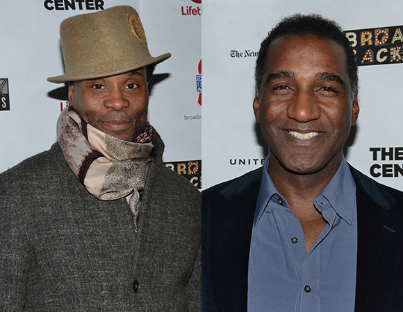 <p>Billy Porter, star of <em>Kinky Boots</em>, and Norm Lewis, who will take on the role of Broadway&#39&#x3B;s Phantom this spring, were pleased to support a good cause.</p><br />(© David Gordon)