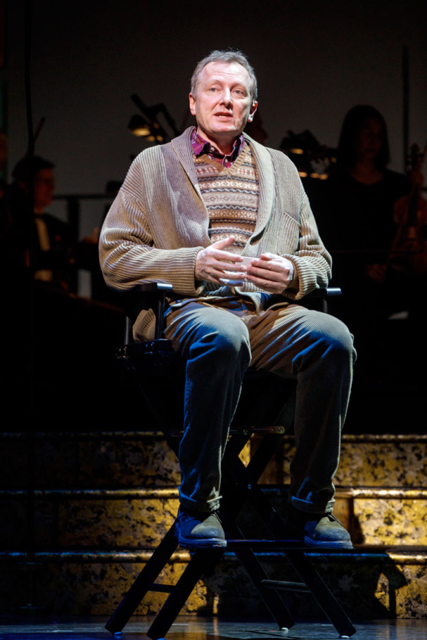 <p>Bob Martin reprises his <em>Drowsy Chaperone</em> role as Man in Chair.</p><br />(© Joan Marcus)