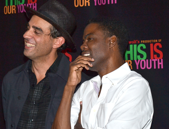 <p>Bobby Cannavale and Chris Rock were thrilled to cheer on their <em>Motherfu**ker With the Hat</em> director, Anna D. Shapiro.</p><br />(© David Gordon)