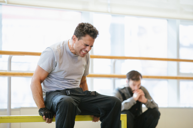 <p>Bobby Cannavale plays Yank in the revival of <em>The Hairy Ape</em> at Park Avenue Amory.</p><br />(© Da Ping Luo)