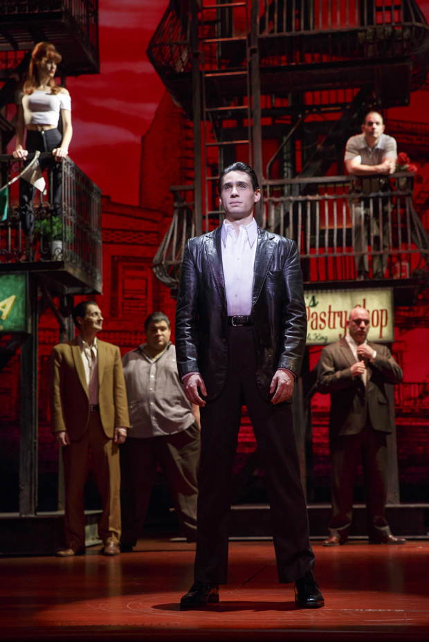<p>Bobby Conte Thornton takes center stage.</p><br />(© Joan Marcus)